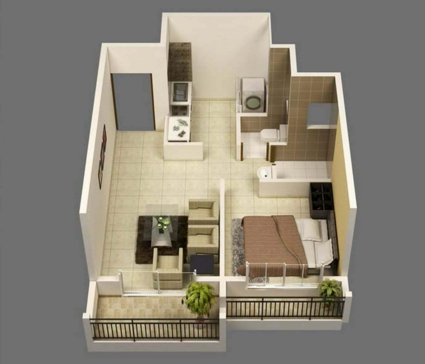 Bán căn hộ New City 1 phòng ngủ