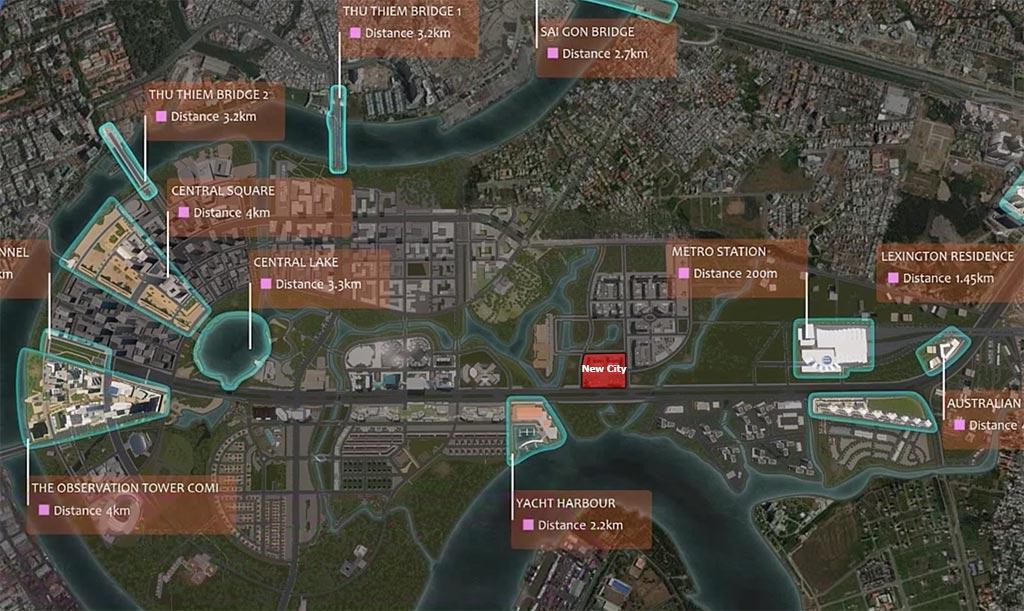 Vị trí dự án New City Bình Khánh Quận 2