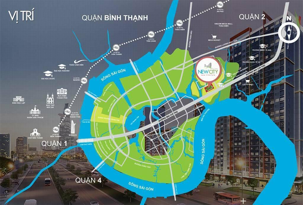 Vị trí dự án New City Thủ Thiêm Quận 2