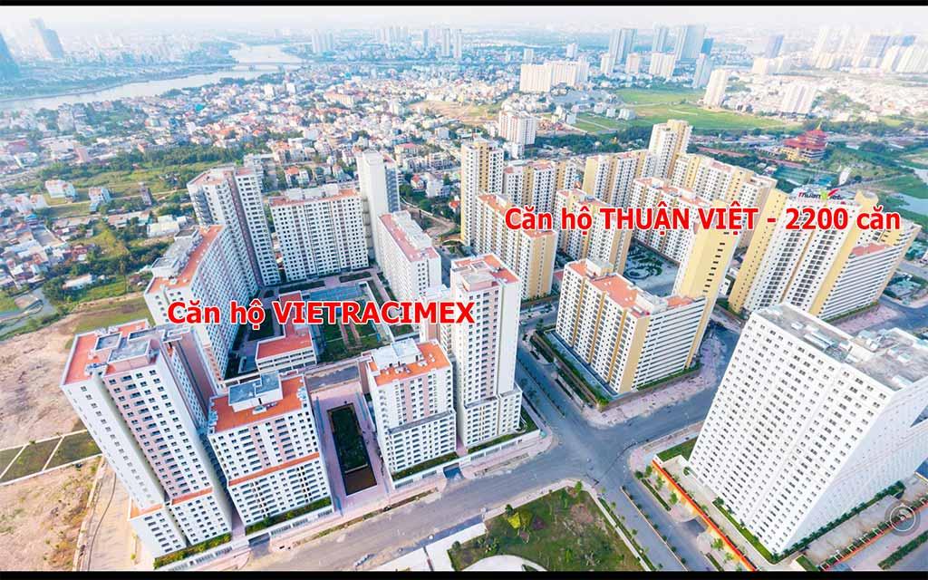 Căn hộ Vietracimex và Thuận Việt khu 2200 căn