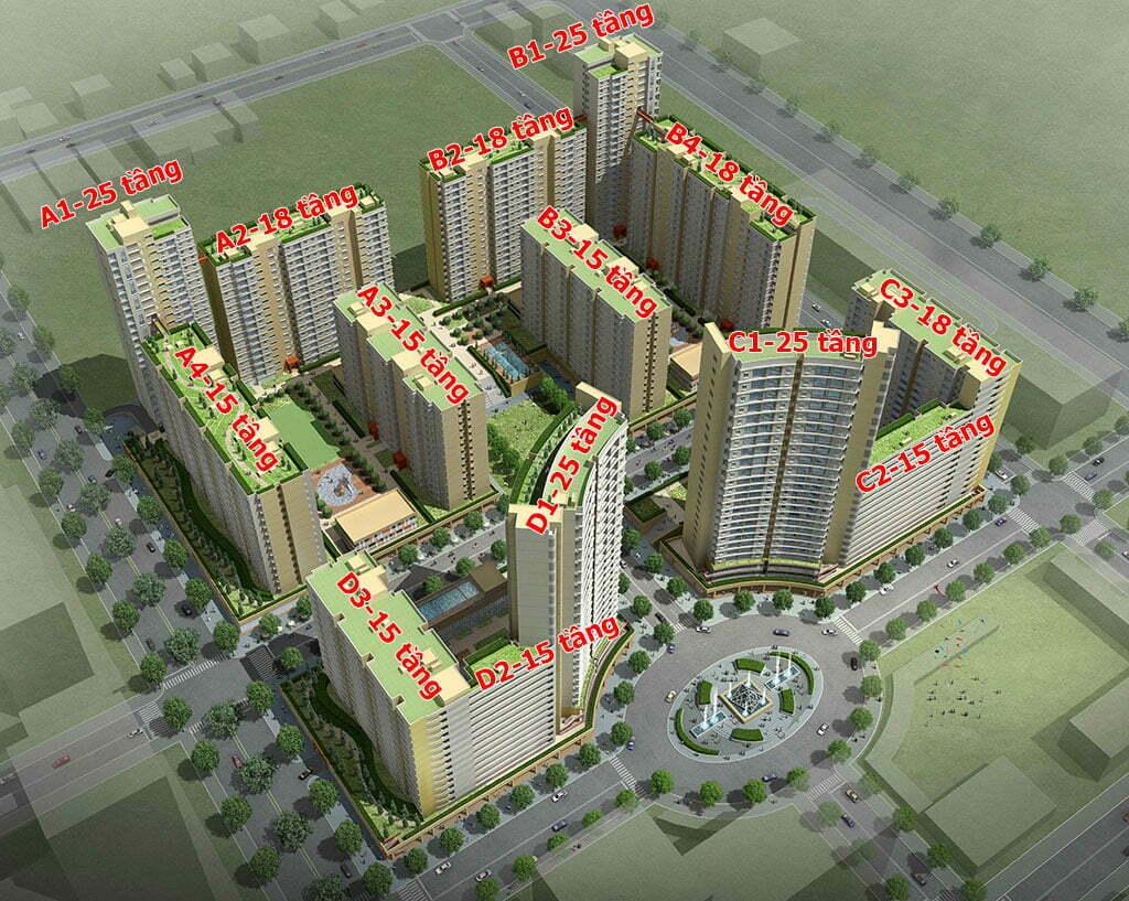 Mặt bằng căn hộ Thuận Việt Quận 2 tổng thể