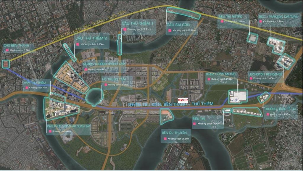 Vị trí căn hộ New City Bình Khánh Quận 2