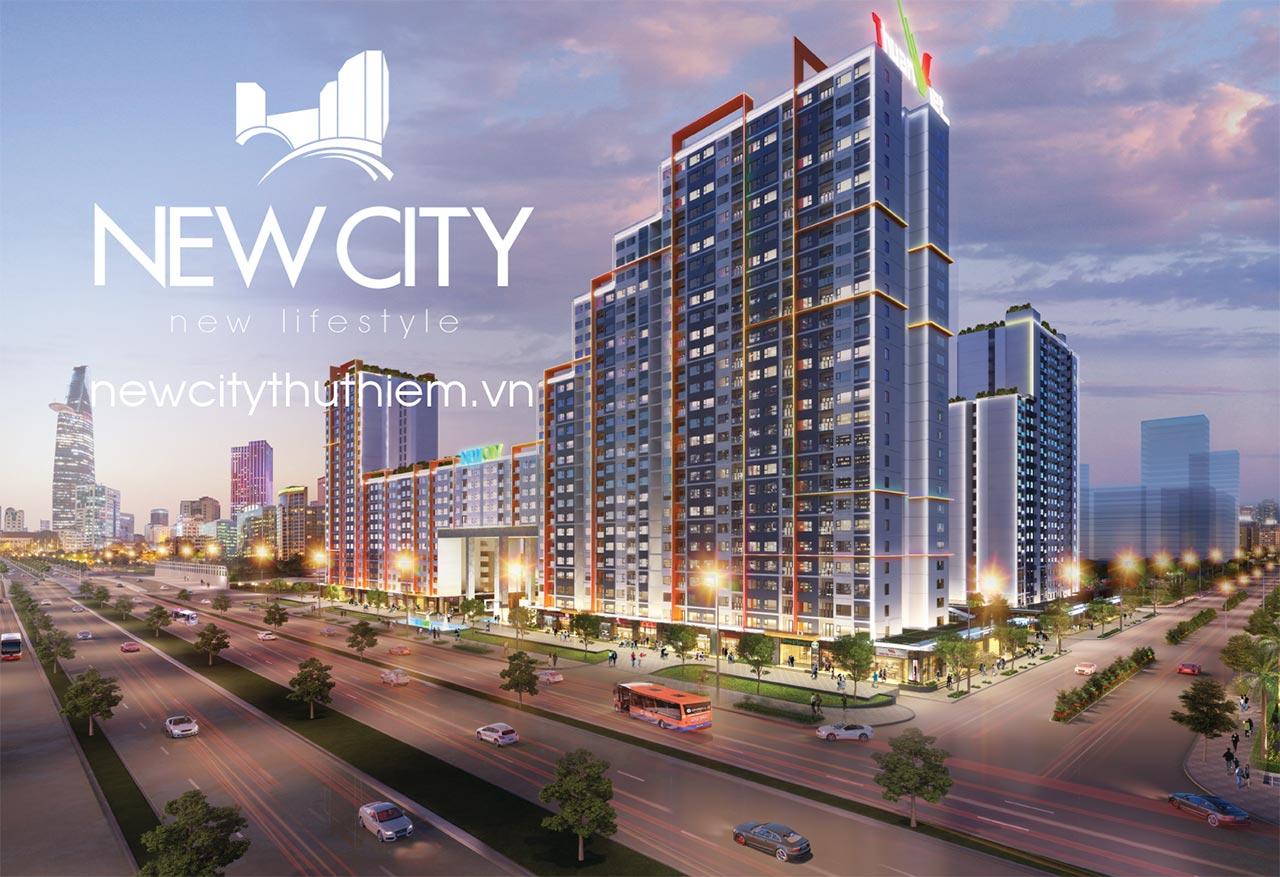 Phối cảnh dự án New City Thủ Thiêm về đêm