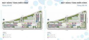 Mặt bằng tầng điển hình căn hộ One Verandah Jardin và Ciel