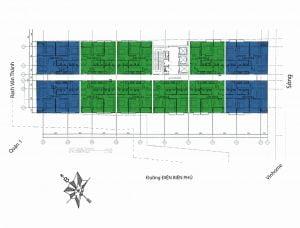 Mặt bằng căn hộ 152 Điện Biên Phủ tiêu chuẩn